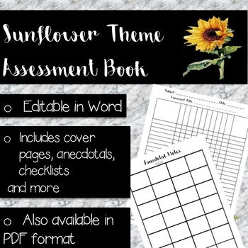 Assessment Book Editable