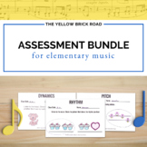 Editable Assessment Bundle for Music