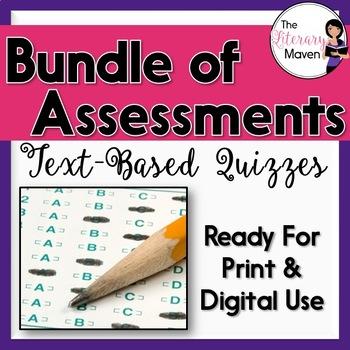 Assessment Bundle for English Language Arts Skills, CCSS Aligned