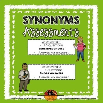 Vocabulary Assessment Bundle