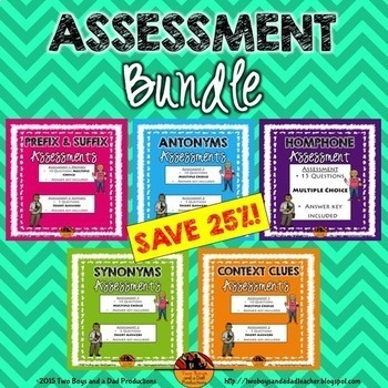 Vocabulary Assessment Bundle