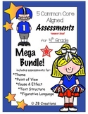 4th grade text structure, theme, pt of view, etc. Assessment Bundle