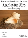 Assessment Bundle for the novel Lord of the Flies by William Golding