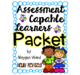 Assessment Capable Learners Packet-NEWLY REVISED!!!!