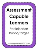 Assessment Capable Learners Participation Rubric/Target