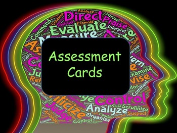 Assessment Cards; Student Self Assessment, Danielson 3D