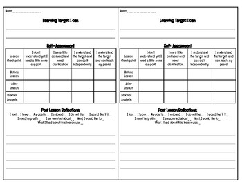 Assessment Cards (Check for Understanding)