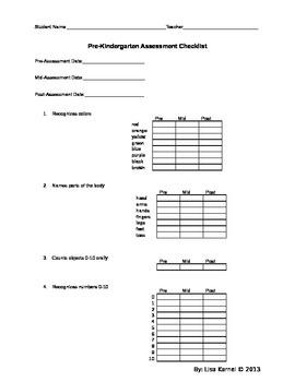 Assessment Checklist