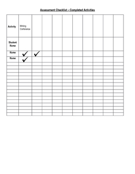 Assessment - Checklist Tracking Form