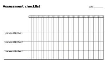 Assessment Checklist template - editable