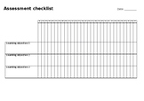 Assessment Checklist template - editable