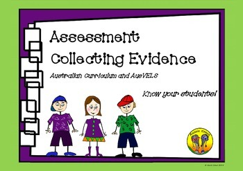 Assessment Collecting Evidence - Australian Curriculum and AusVels