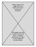Assessment Cover Sheet/Scratch Paper
