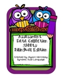 Assessment Data Collection Sheets-Bilingual Edition