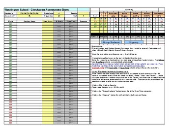 Assessment Data Sheet