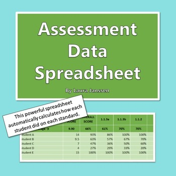 Assessment Data Spreadsheet