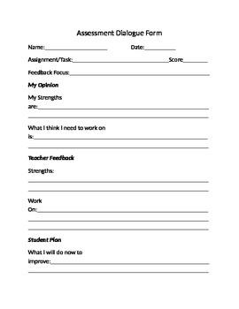 Assessment Dialogue Form