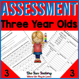 Preschool Assessment | Literacy and Math | Back to School | 3 Year Olds