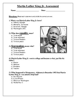 Assessment-Dr. Martin Luther King Jr.