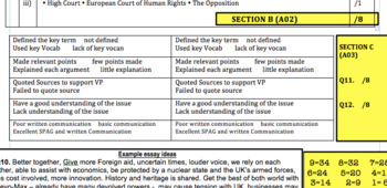 Assessment Exam on Devolution of Power and The Economy New GCSE Citizenship