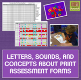 Assessment Forms for Data Driven Instructional Planning