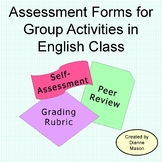Assessment Forms for Group Activities in English Class