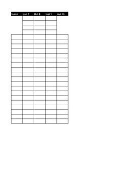 Assessment Grade Excel Tracker