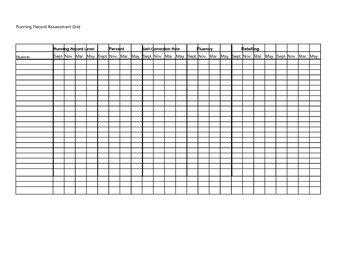 Assessment Grid for running records