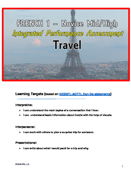 Assessment - IPA - French - Travel