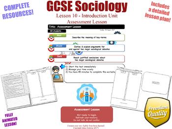 Assessment Lesson - Introduction Unit L10/12 - GCSE Sociology (KS4)