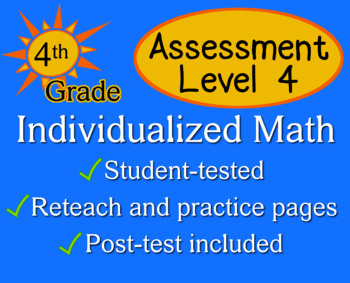Assessment Level 4 - Individualized Math - 4th grade
