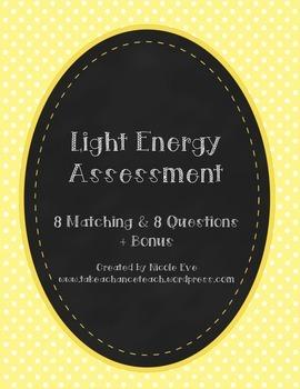 Assessment: Light Energy Quiz