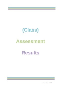 Assessment Mark Book