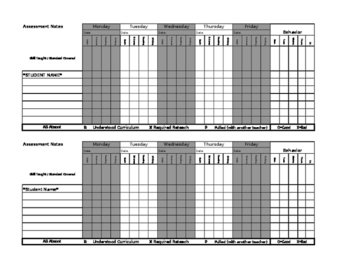 Assessment Notes