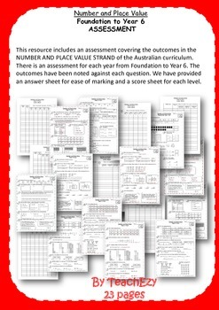 Assessment Number and Place Value Australian Curriculum K-6