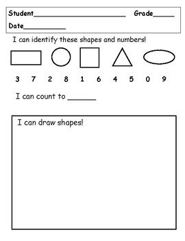 Assessment Numbers and Shapes