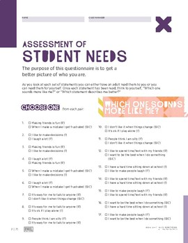 Assessment Of Student Needs