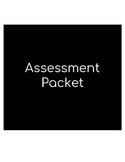 Assessment Packet - PreK K 1st