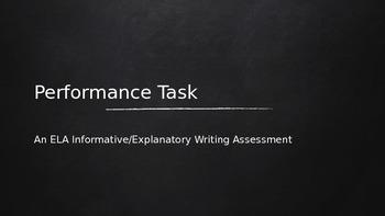 Assessment: Performance Task