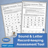 Letter & Sound Assessment Recording Sheets complement Jolly Phonics