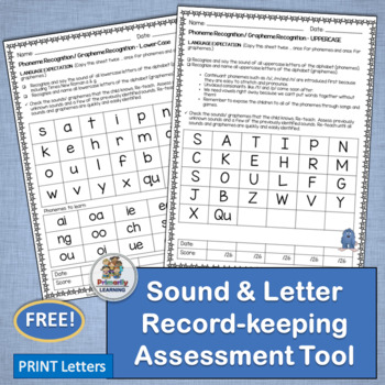 Letters And Sounds Assessment Complements Jolly Phonics Free Tpt