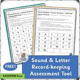 Letter & Sound Assessment Recording Sheets  (SASSOON Font)