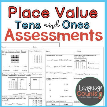 Assessments- Place Value with Tens and Ones- Topic 8