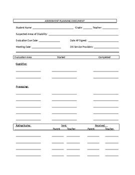 Assessment Planning Document