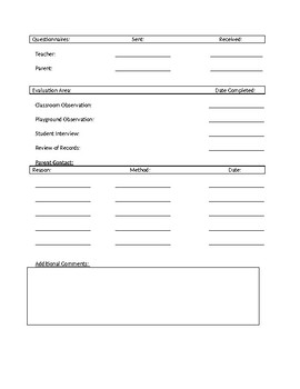 Assessment Planning Document