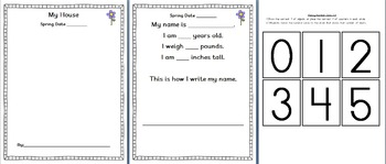 Assessment & Portfolio Pages - PreK or Kindergarten