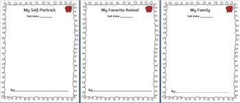 Assessment & Portfolio Pages - PreK or Kindergarten