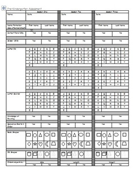 Assessment (Pre-K and Kindergarten)