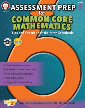 Assessment Prep for Common Core Math Grade 6 SALE 20% OFF! 404232