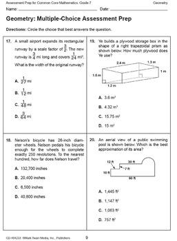 Assessment Prep for Common Core Math Grade 7 SALE 20% OFF! 404233